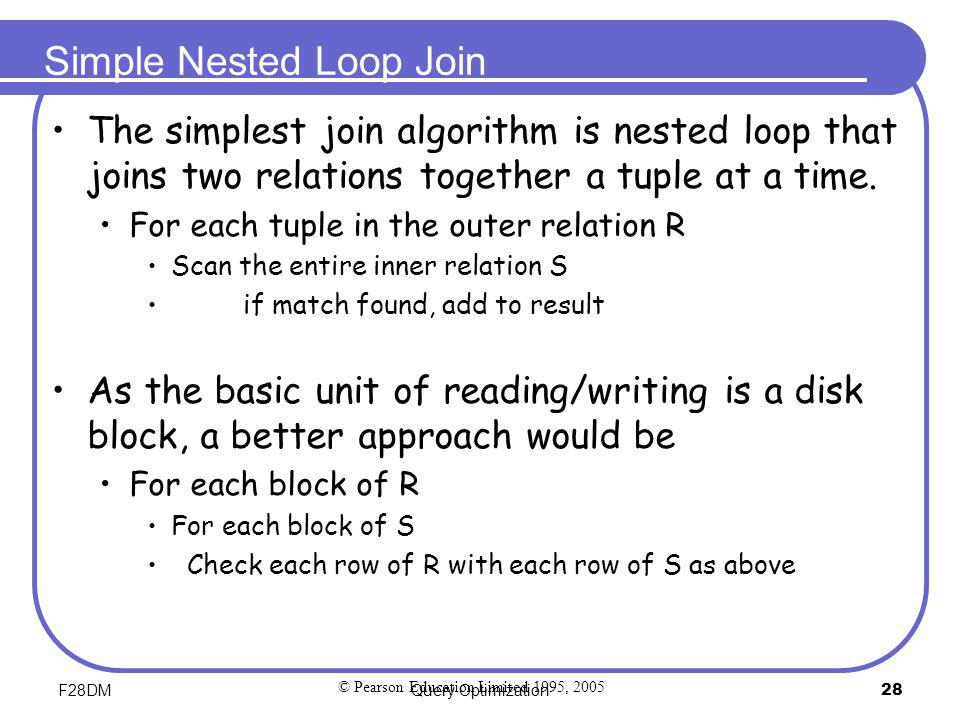 Simple Nested Loop Join