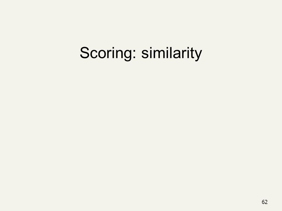 Scoring: similarity