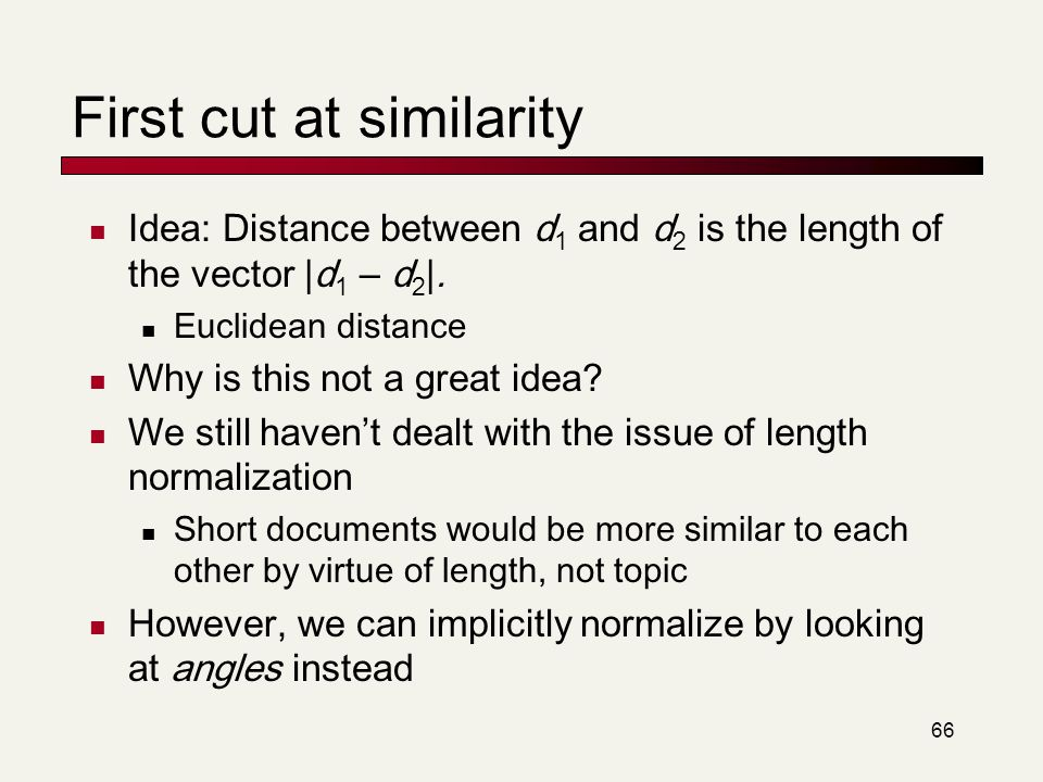 First cut at similarity