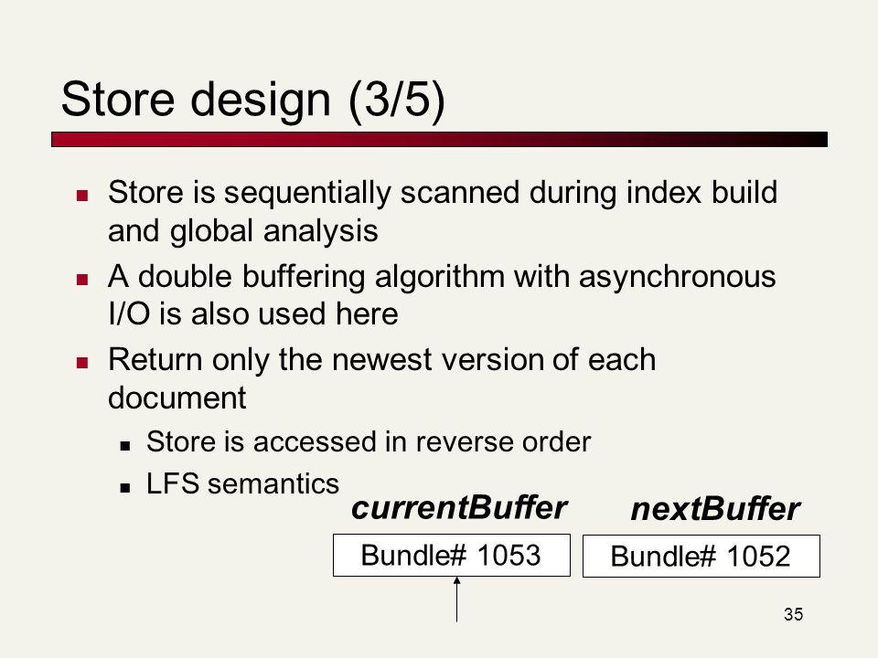 Store design (3/5) currentBuffer nextBuffer