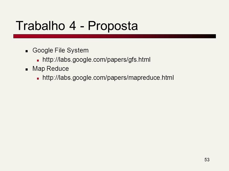 Trabalho 4 - Proposta Google File System