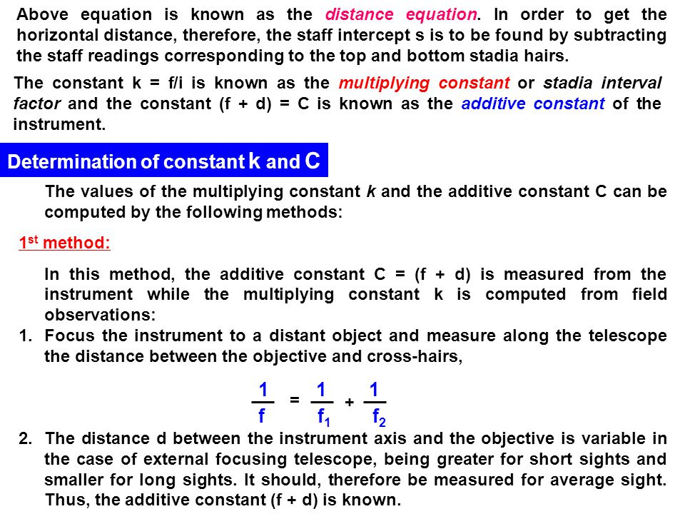 Determination of constant k and C