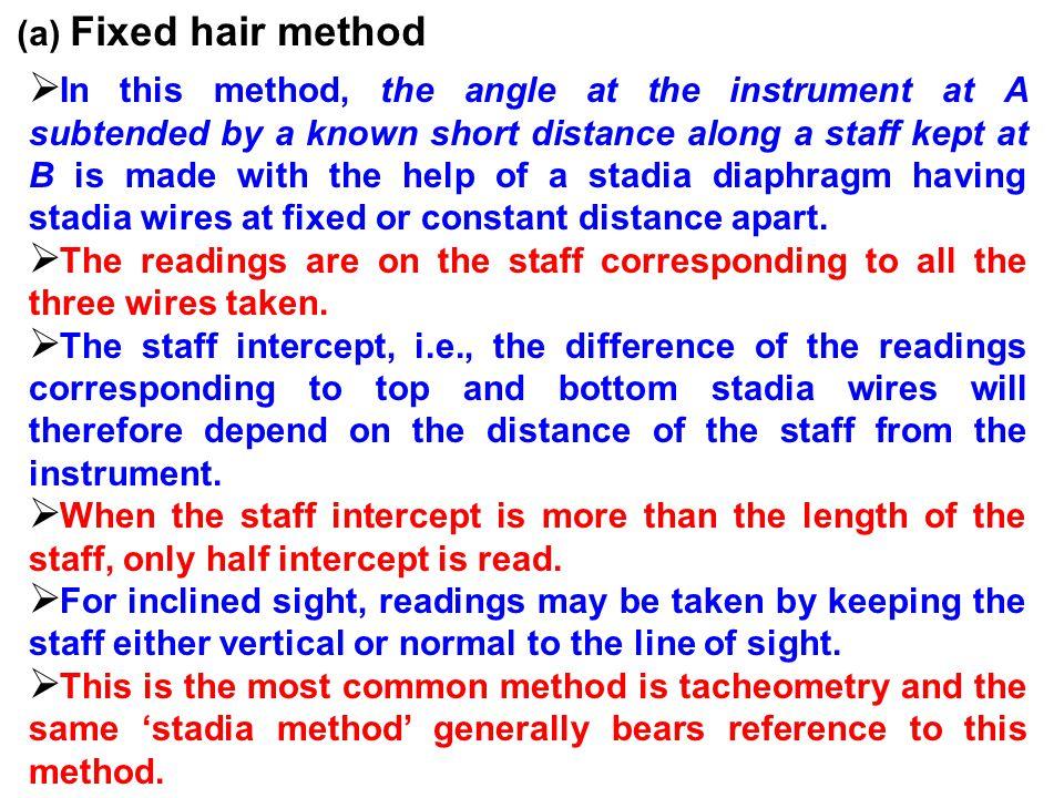 (a) Fixed hair method