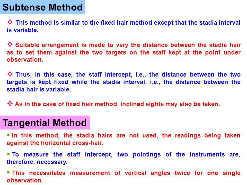 Subtense Method Tangential Method