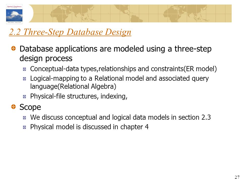 2.2 Three-Step Database Design
