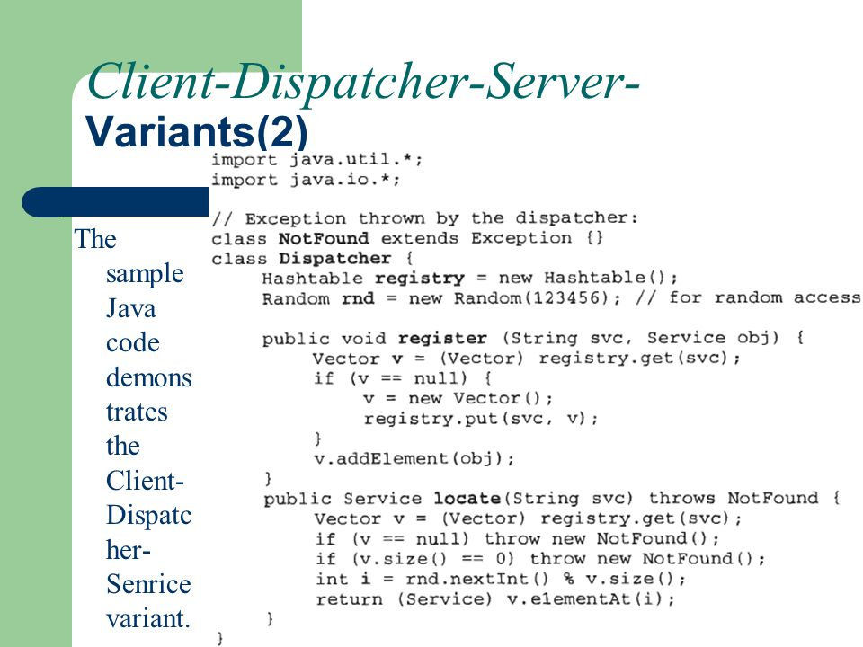 Client-Dispatcher-Server- Variants(2)