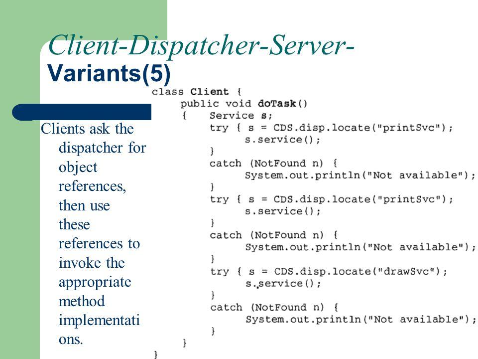 Client-Dispatcher-Server- Variants(5)