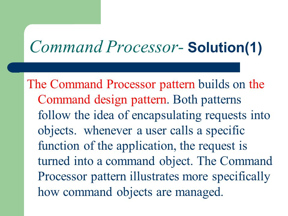 Command Processor- Solution(1)