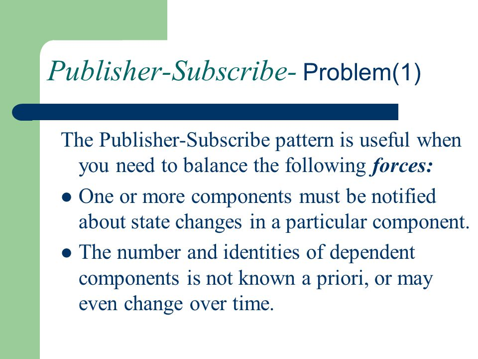 Publisher-Subscribe- Problem(1)