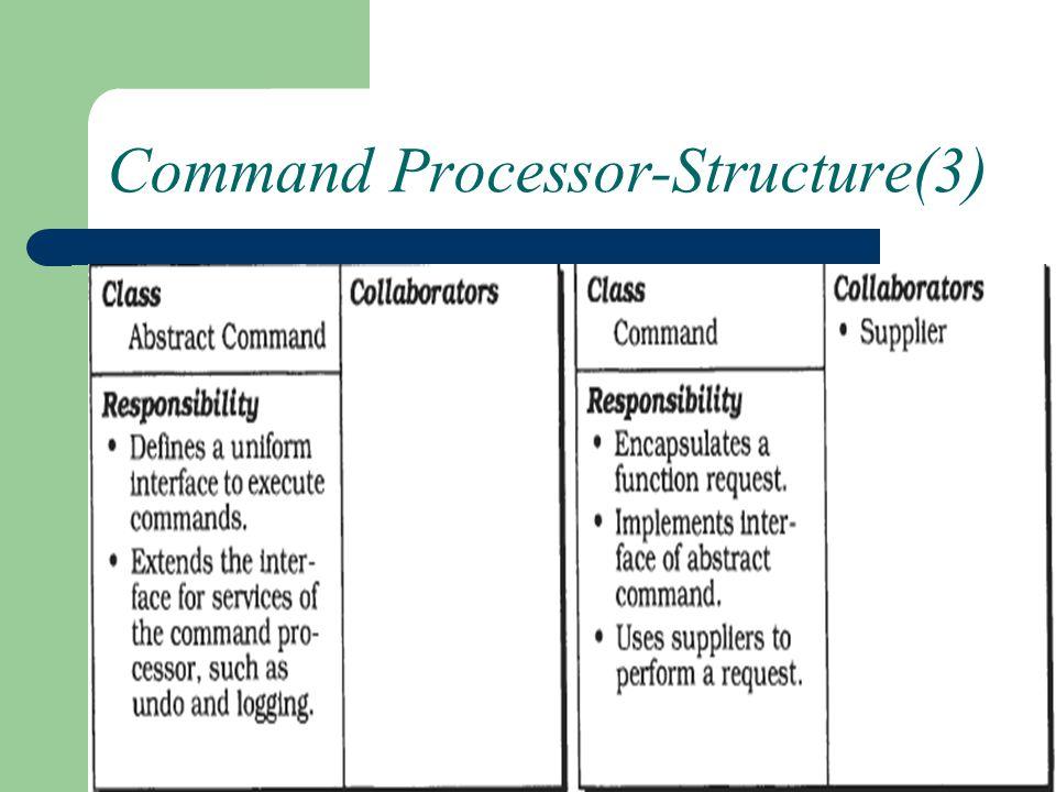 Command Processor-Structure(3)
