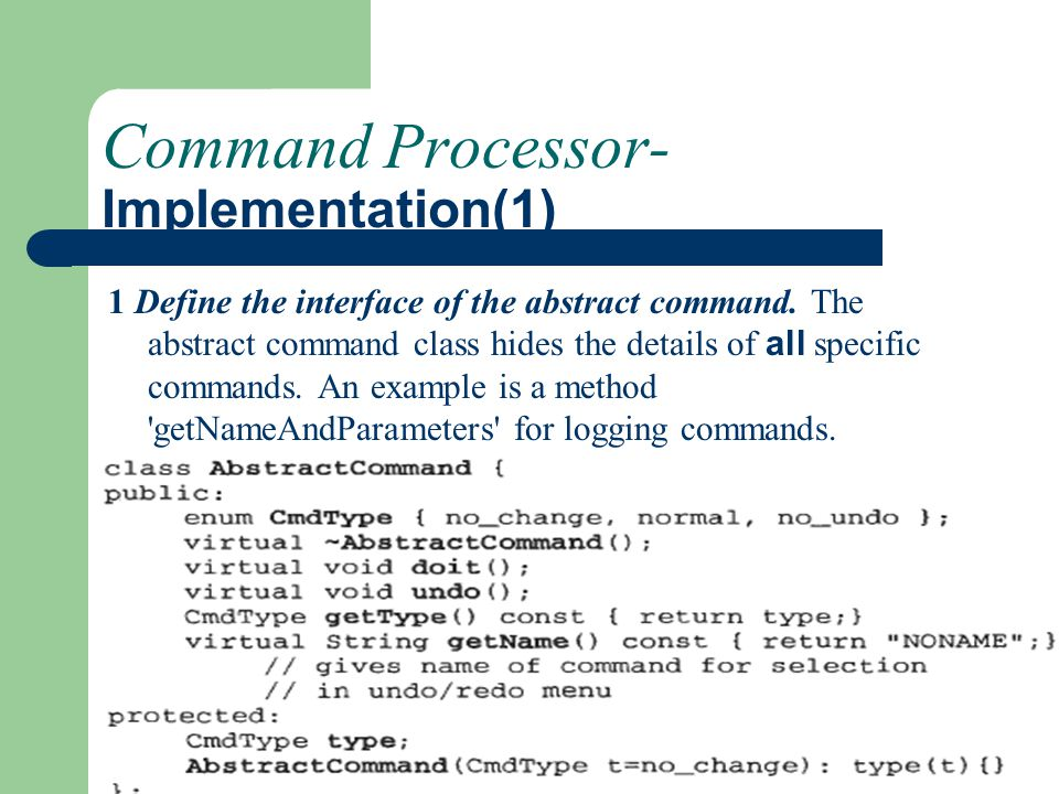 Command Processor- Implementation(1)