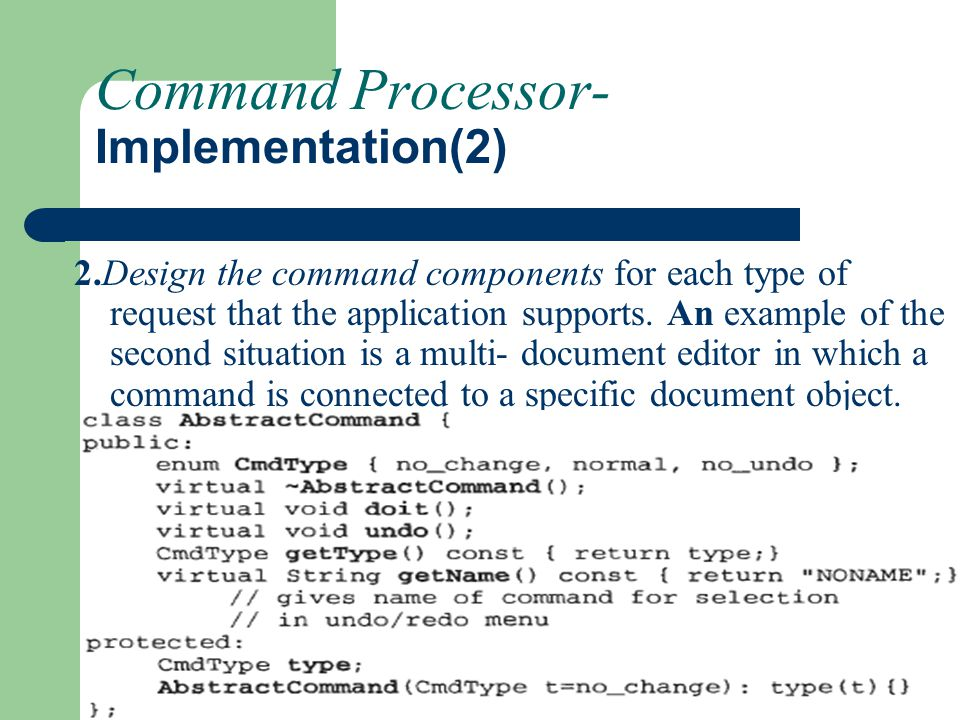 Command Processor- Implementation(2)