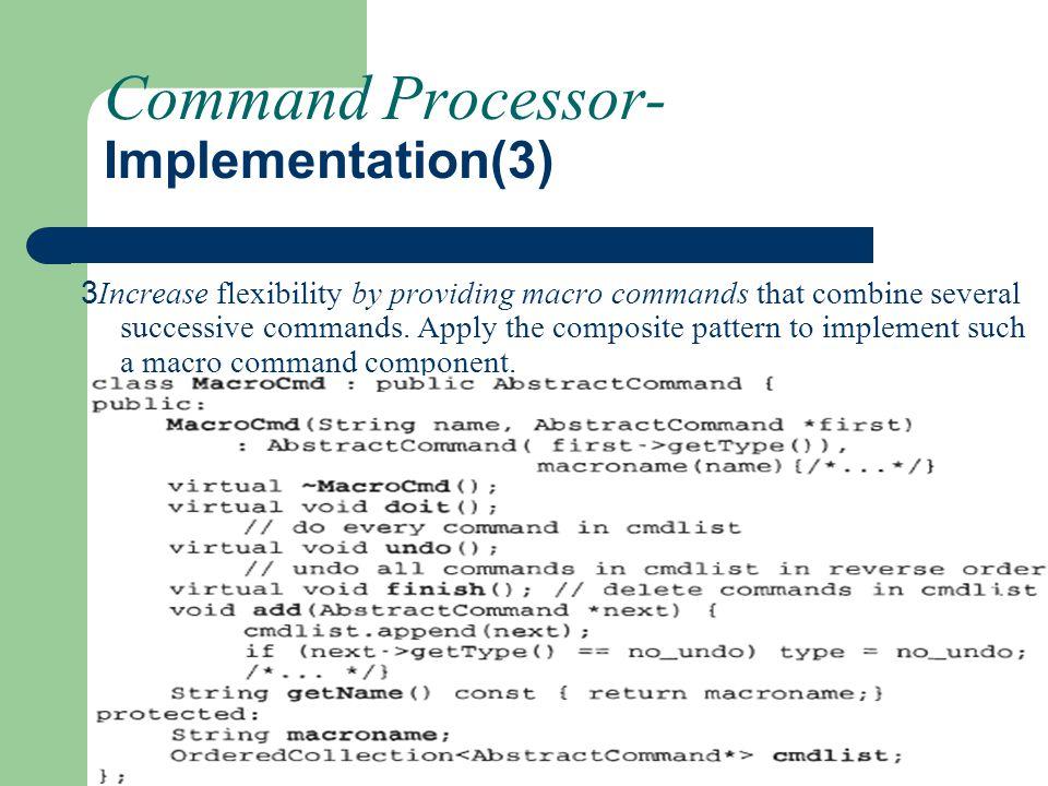 Command Processor- Implementation(3)