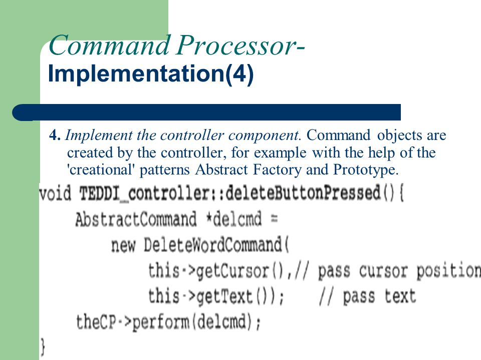 Command Processor-Implementation(4)