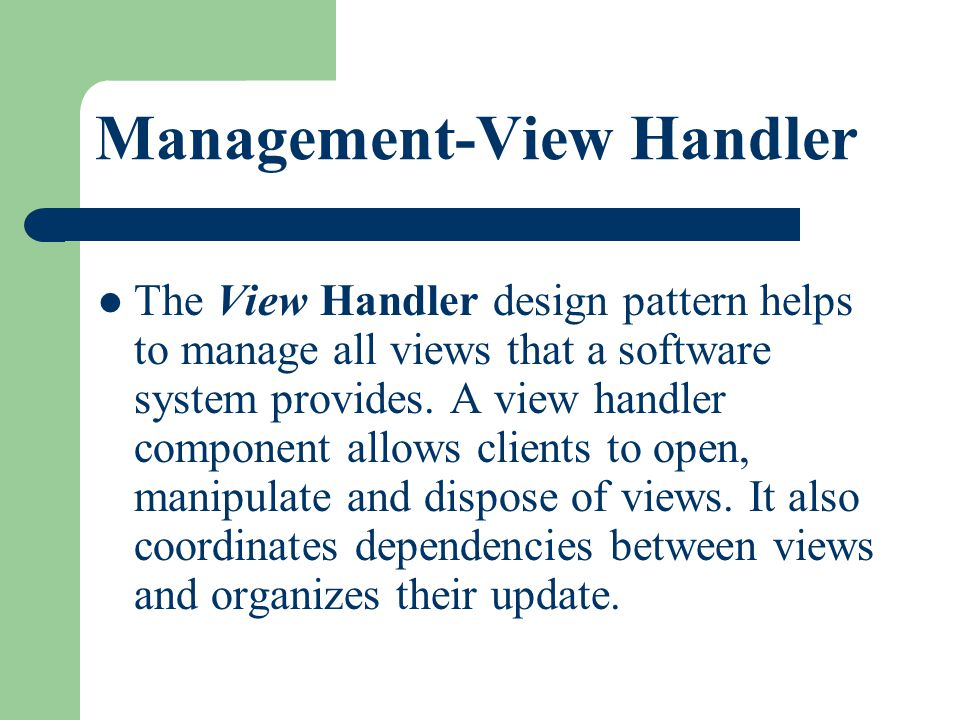 Management-View Handler