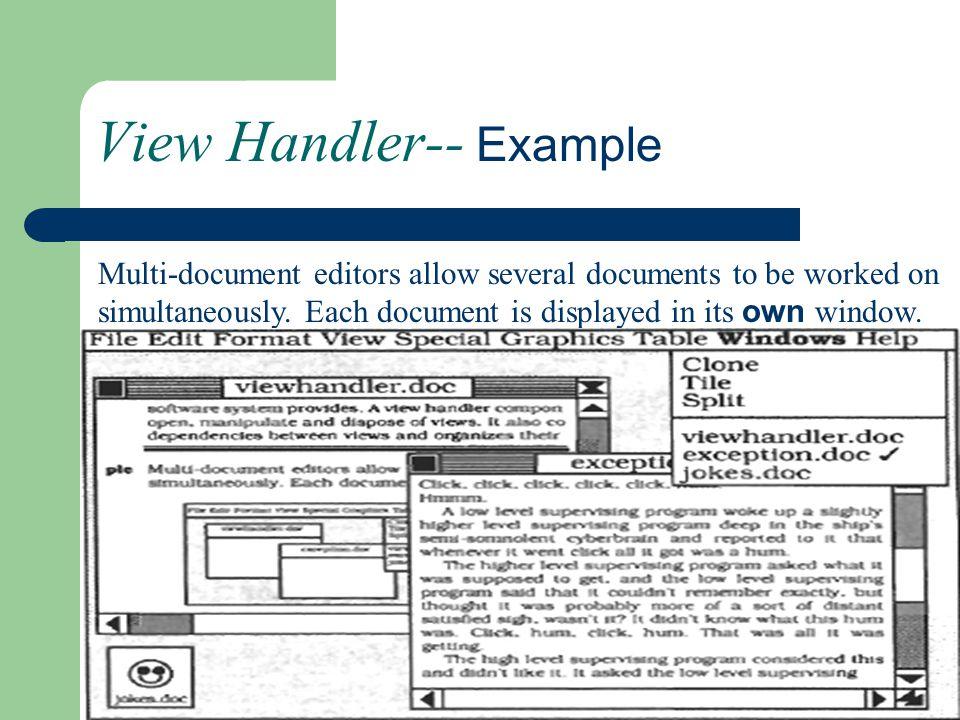 View Handler-- Example
