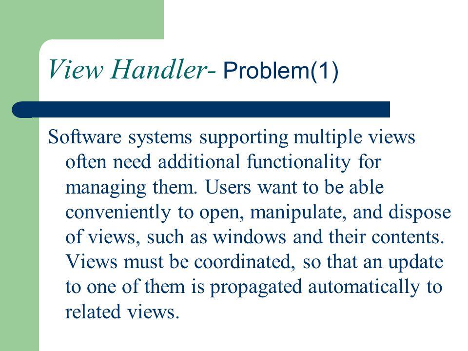 View Handler- Problem(1)