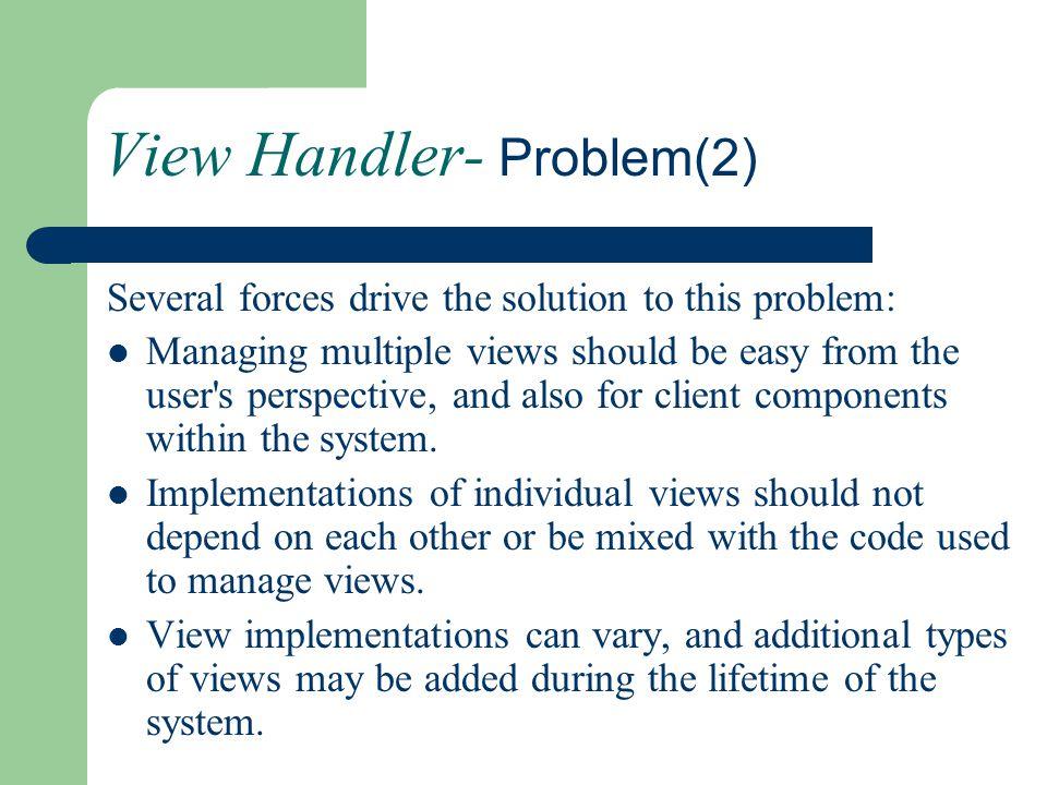 View Handler- Problem(2)