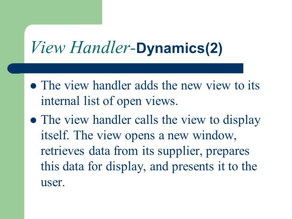 View Handler-Dynamics(2)