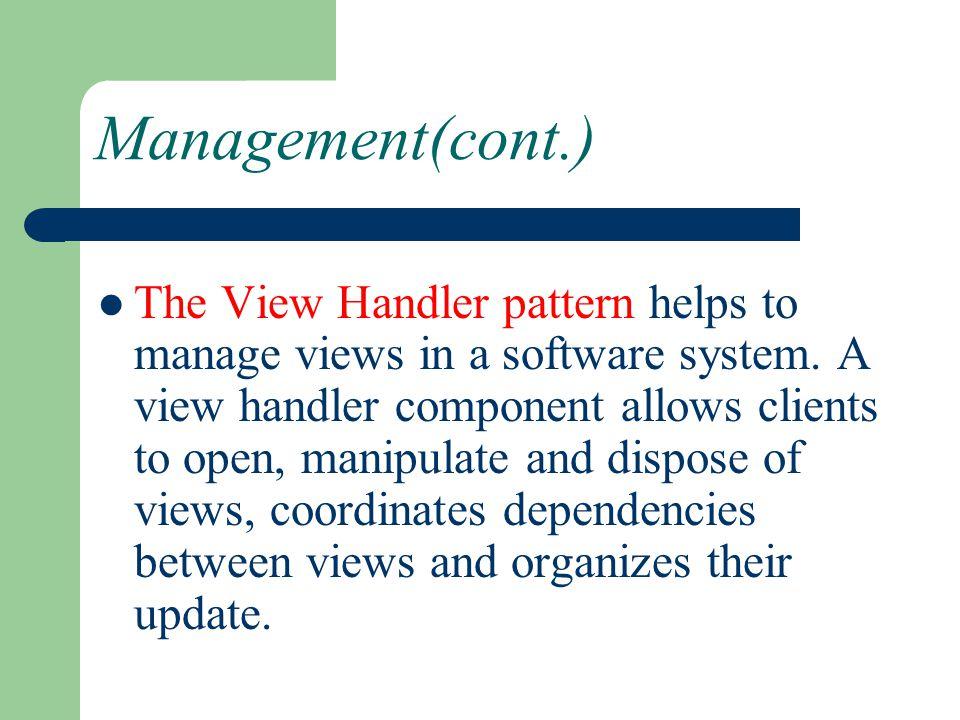 Management(cont.)