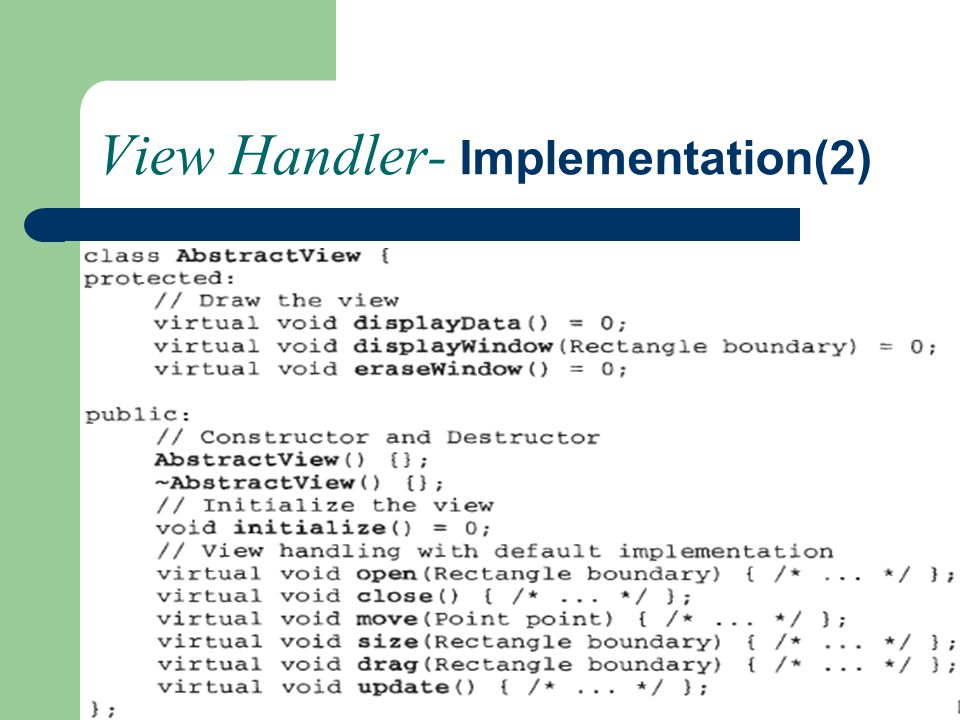 View Handler- Implementation(2)