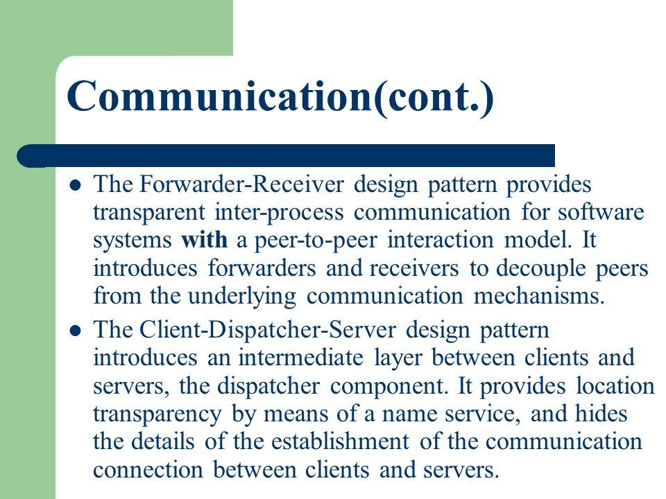 Communication(cont.)