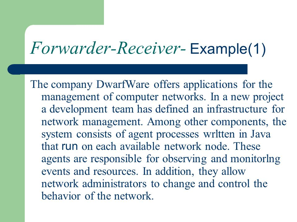Forwarder-Receiver- Example(1)