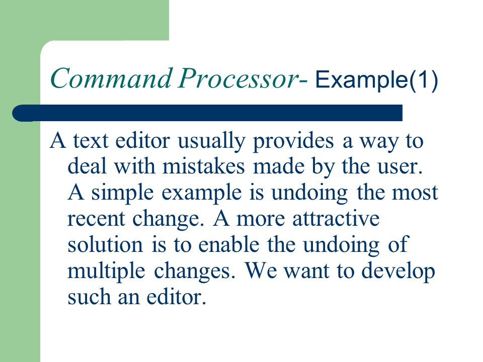 Command Processor- Example(1)