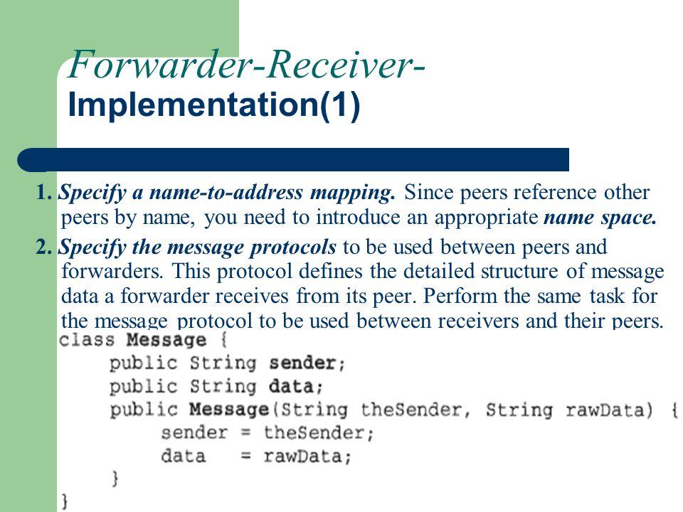 Forwarder-Receiver- Implementation(1)