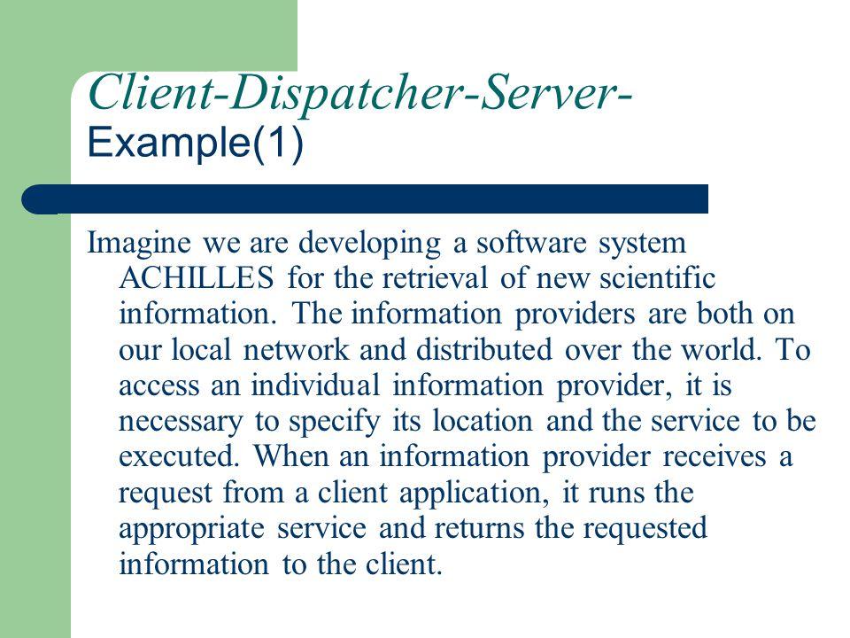 Client-Dispatcher-Server- Example(1)