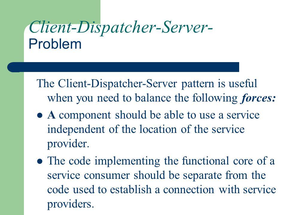 Client-Dispatcher-Server- Problem