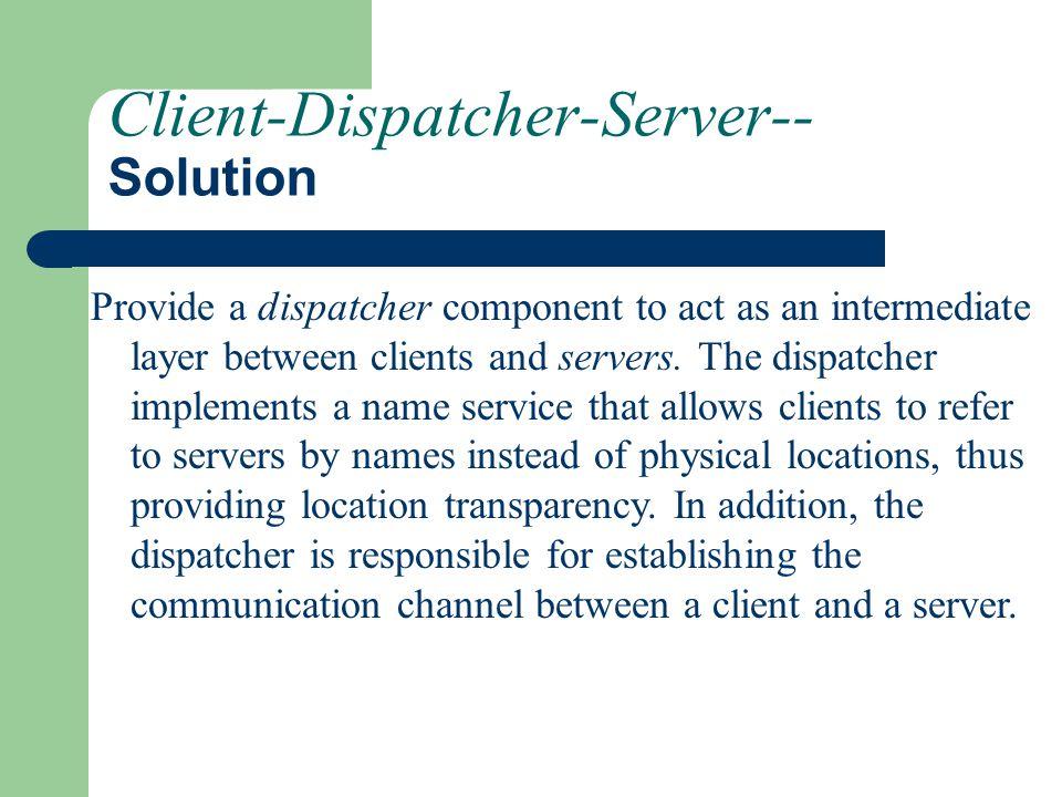 Client-Dispatcher-Server-- Solution