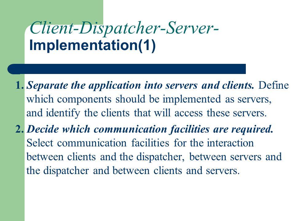 Client-Dispatcher-Server- Implementation(1)