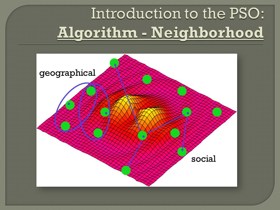 Introduction to the PSO: Algorithm - Neighborhood