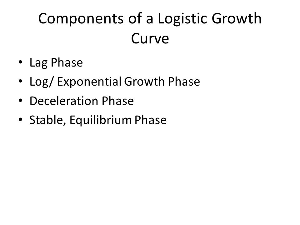 Components of a Logistic Growth Curve