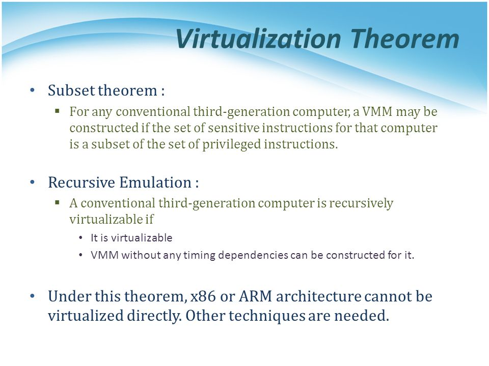 Virtualization Theorem