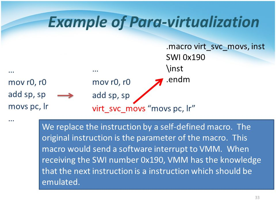 Example of Para-virtualization