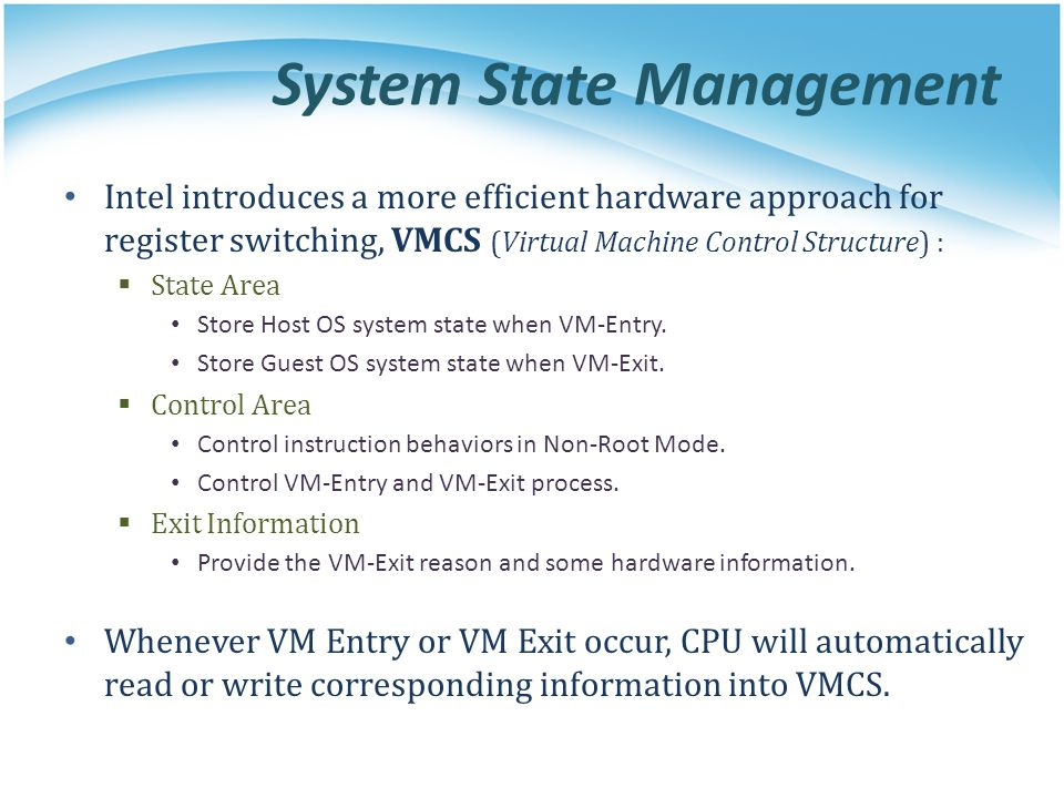 System State Management