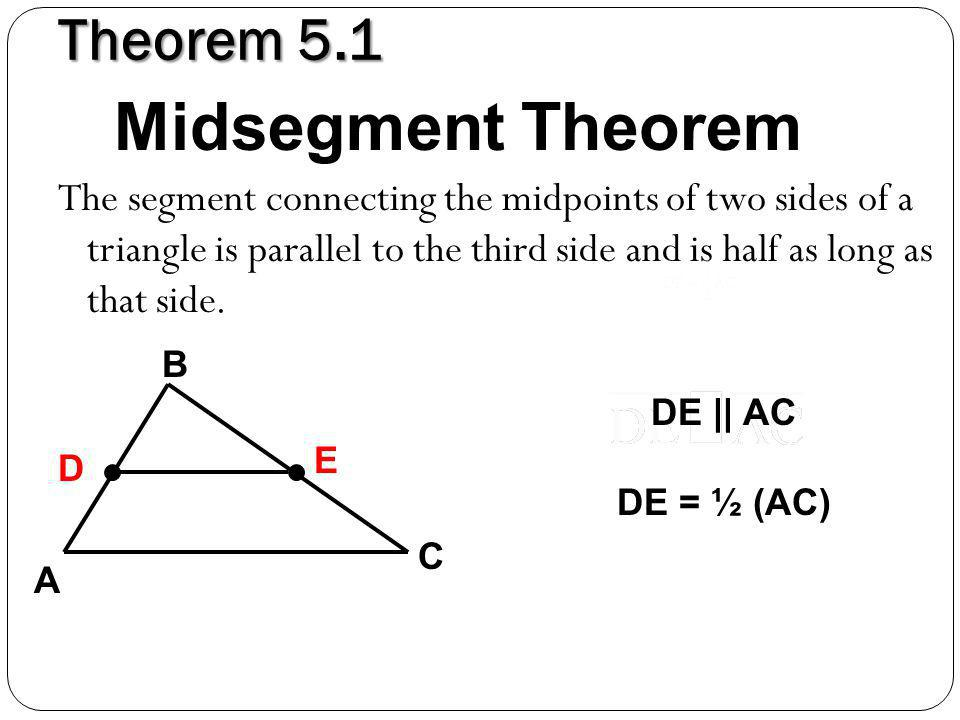 5.1 Midsegment Theorem & Coordinate Proof - ppt video ...