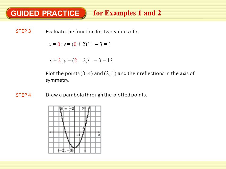 GUIDED PRACTICE for Examples 1 and 2 STEP 3