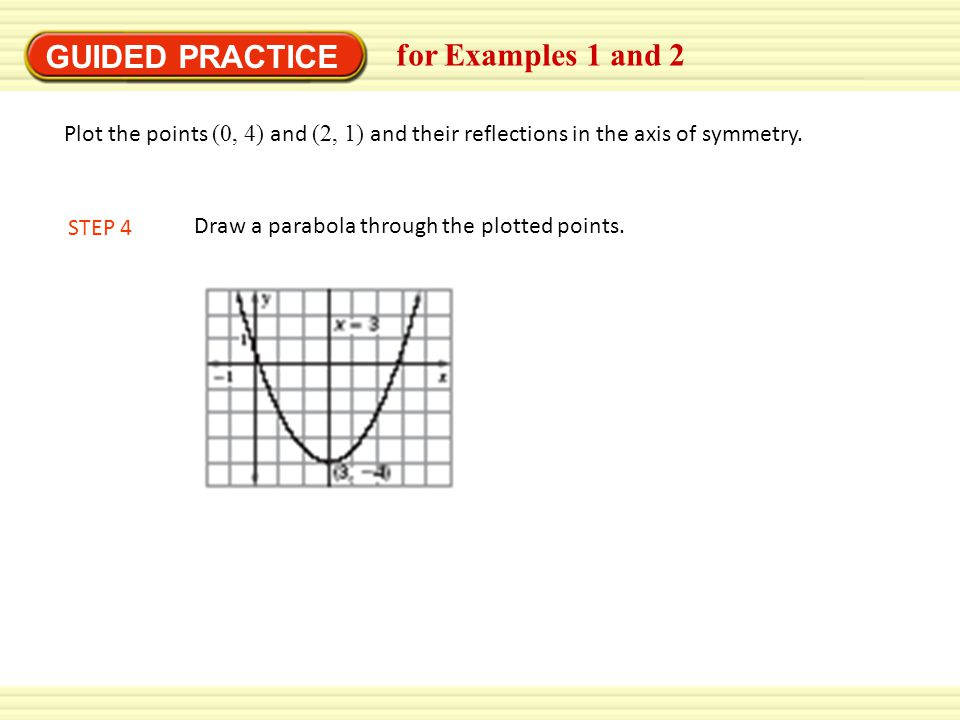 GUIDED PRACTICE for Examples 1 and 2