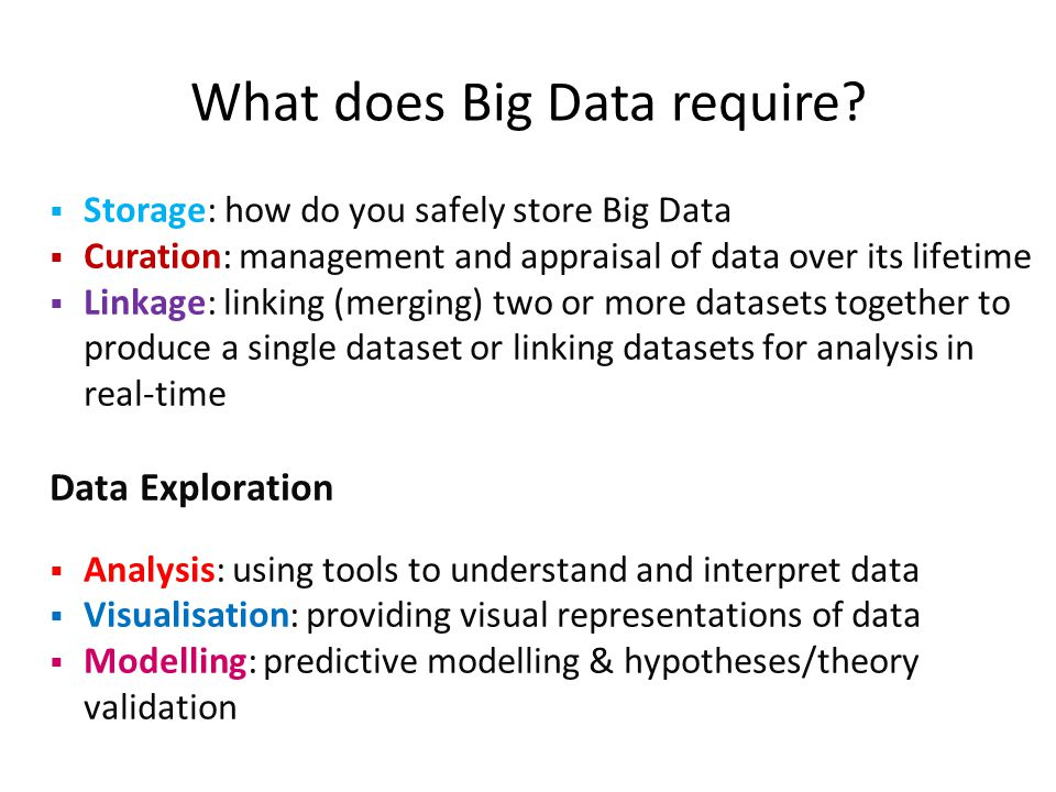 What does Big Data require