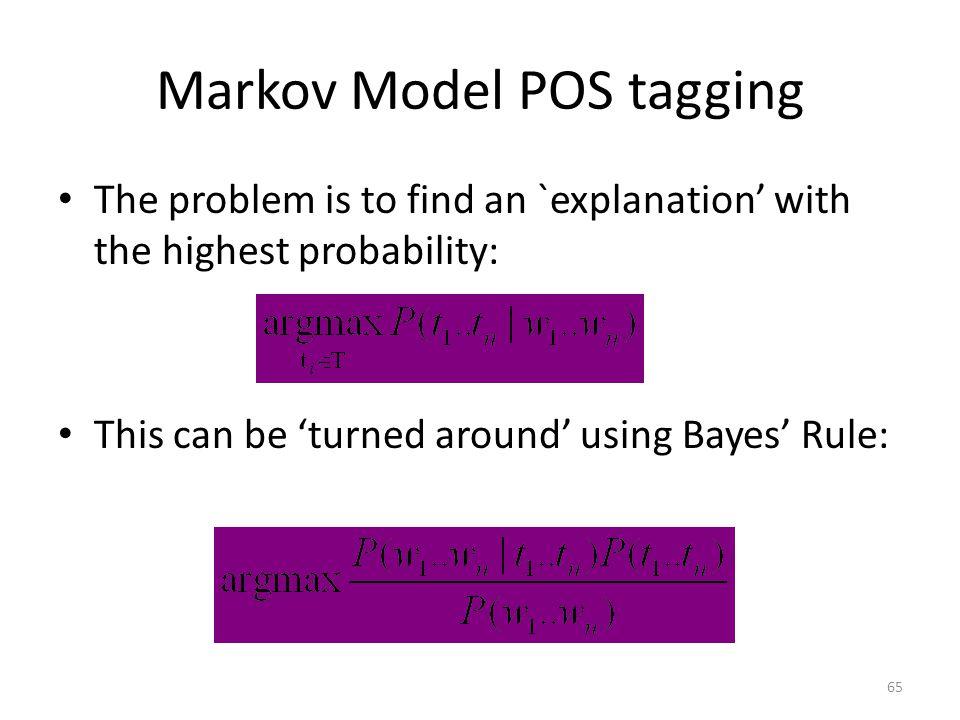 Markov Model POS tagging