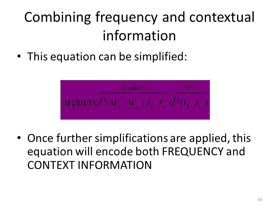 Combining frequency and contextual information
