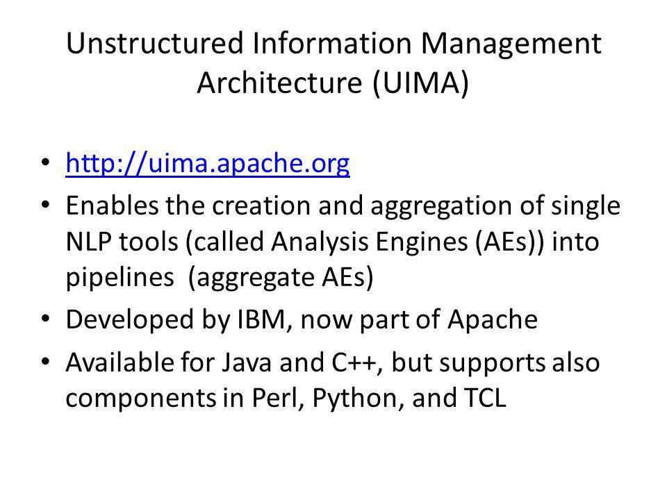 Unstructured Information Management Architecture (UIMA)