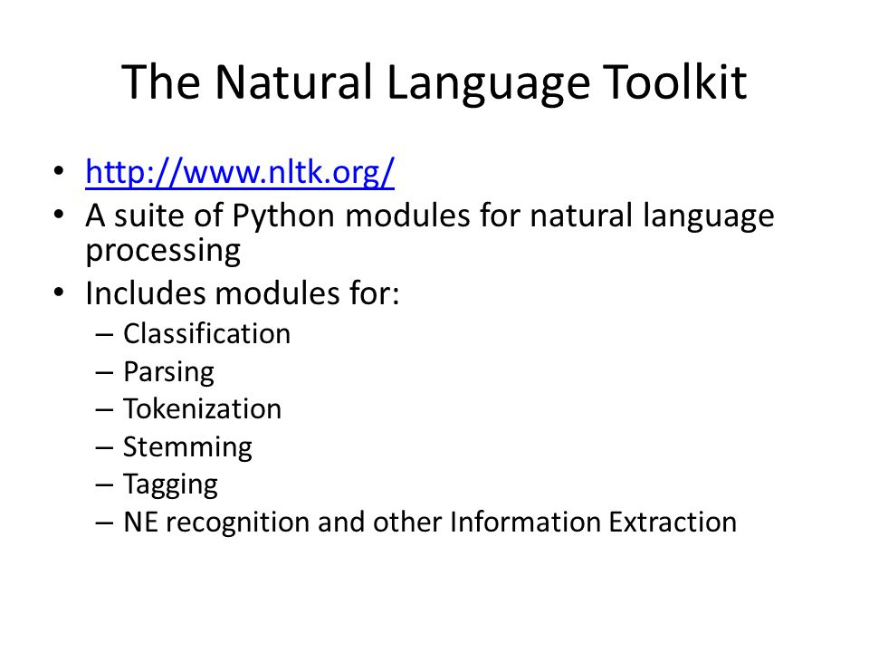 The Natural Language Toolkit