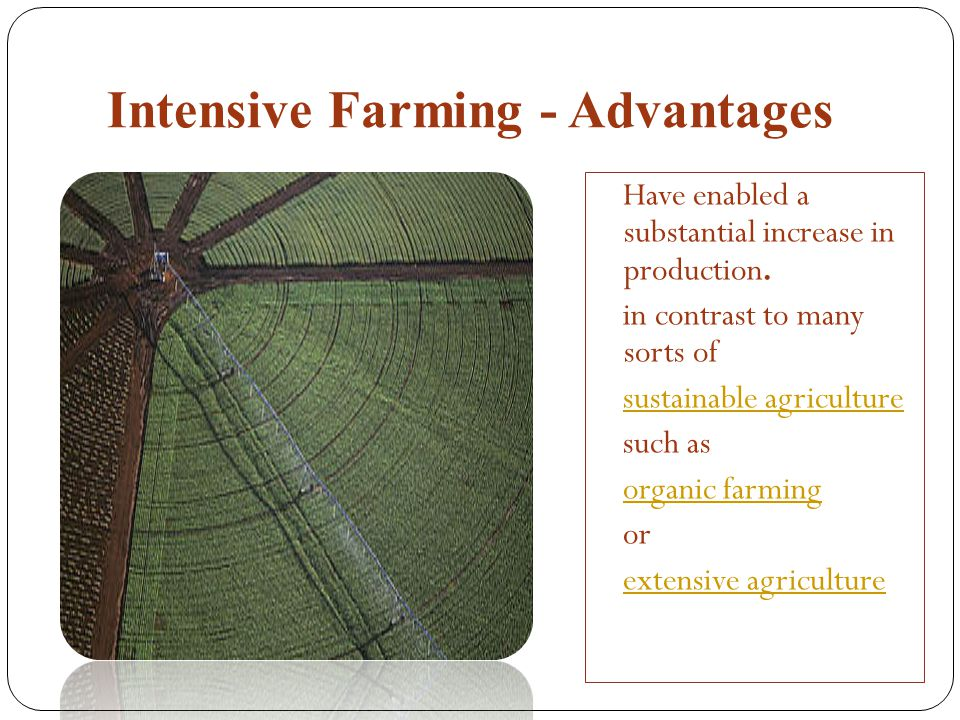 Intensive Farming - Advantages