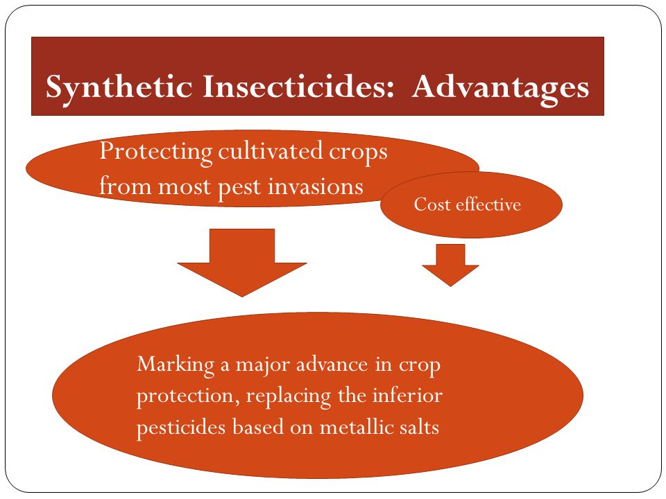 Synthetic Insecticides: Advantages