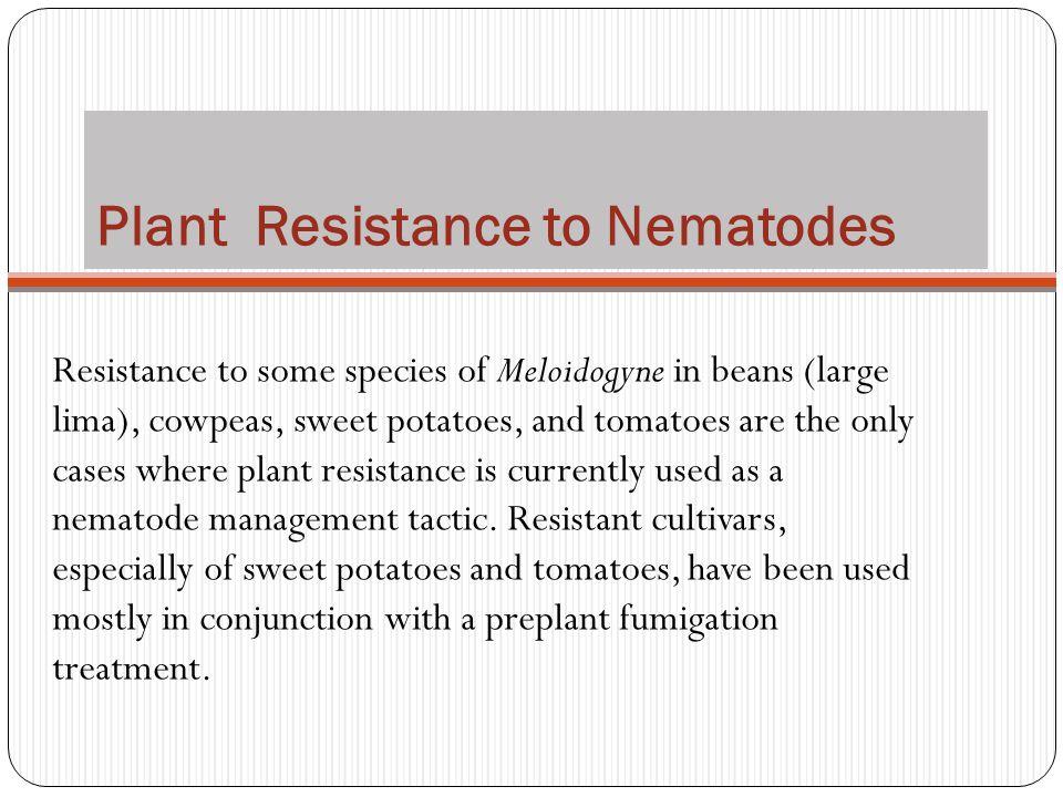 Plant Resistance to Nematodes