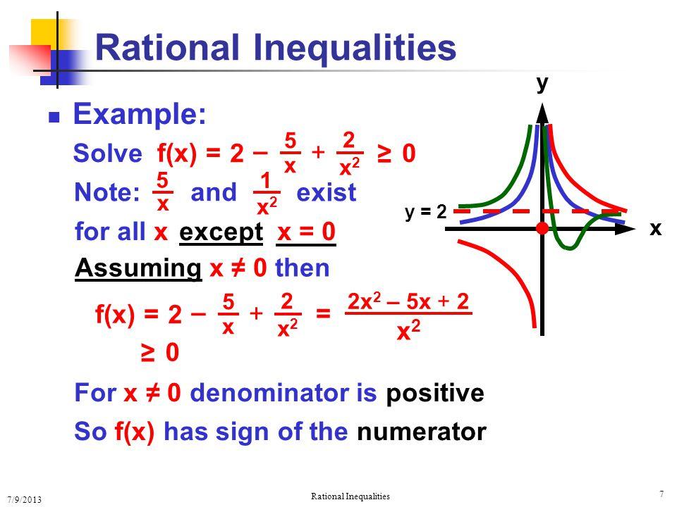 Rational Inequalities